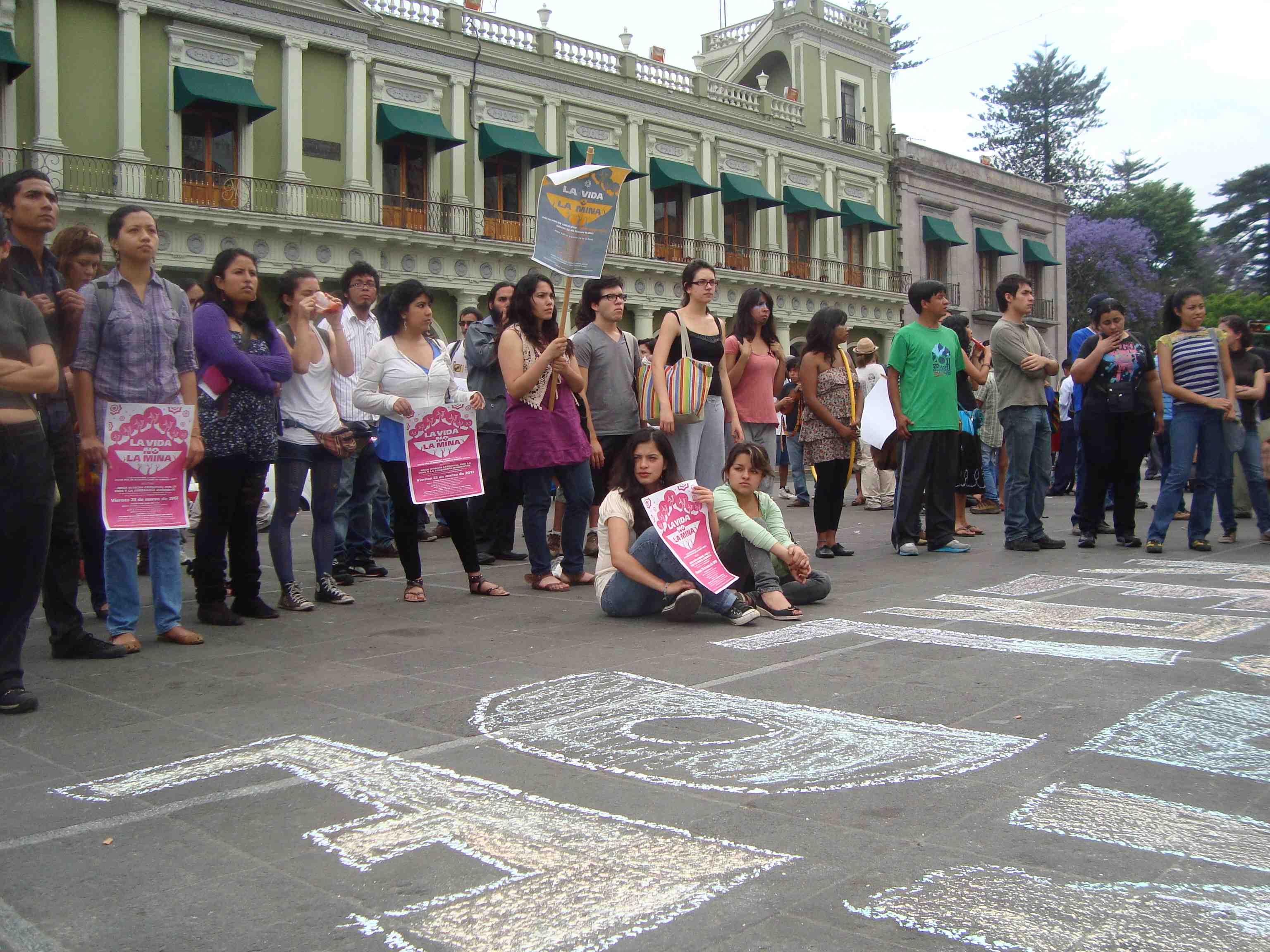 Concurrida y colorida marcha carnaval en Xalapa, exigieron la clausura definitiva de la mina Caballo Blanco