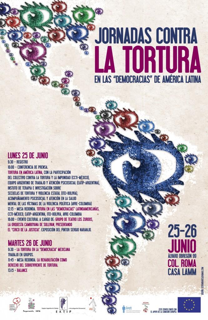 """La Tortura en las """"Democracias"""" de América Latina. Junio 25 y 26, Casa Lamm"""