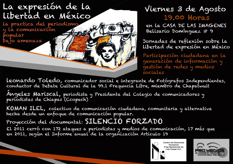 """Jornada de reflexión y análisis ¨La Expresión de la Libertad en México"""""""