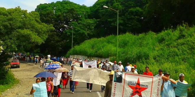Desde la costa de Chiapas, exigen al Estado mexicano la libertad de integrantes de la Red Nacional de Resistencia Civil