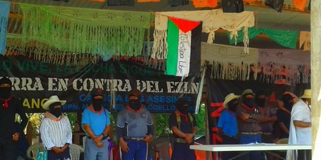 """""""No a las privatizaciones, desalojos y asesinatos, si a la resistencia"""", expresa el Subcomandante Insurgente Moisés…"""