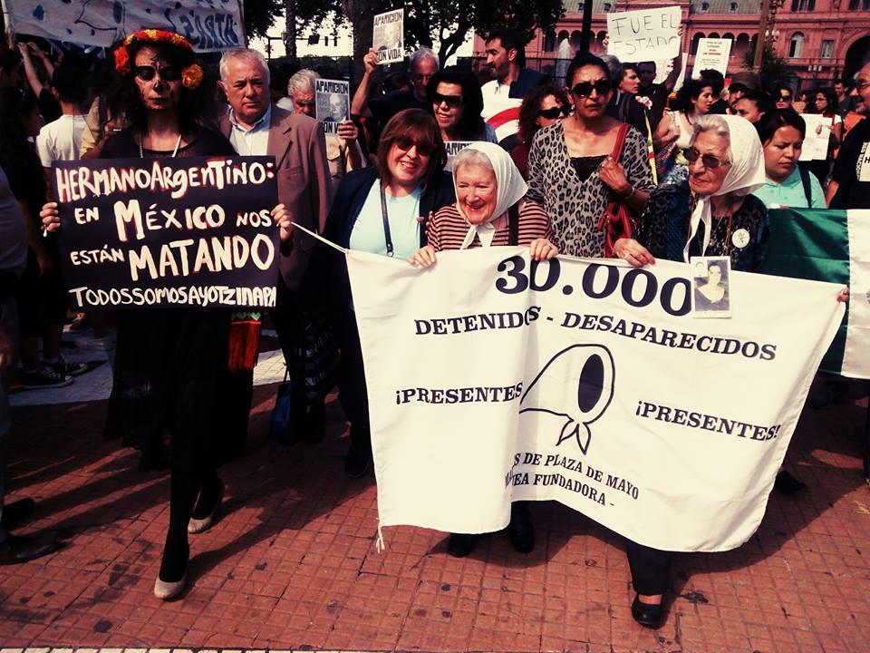 Desde Argentina, solidaridad con las familias de los 43 estudiantes normalistas, desaparecidos en Ayotzinapa