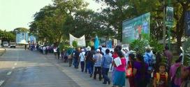 Peregrinación contra la impunidad, a ocho años de la masacre en Viejo Velasco, municipio de Ocosingo.