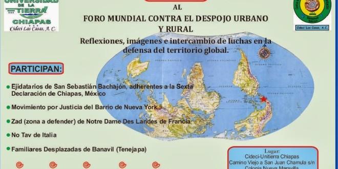 FORO MUNDIAL CONTRA EL DESPOJO URBANO Y RURAL – 18 de Enero