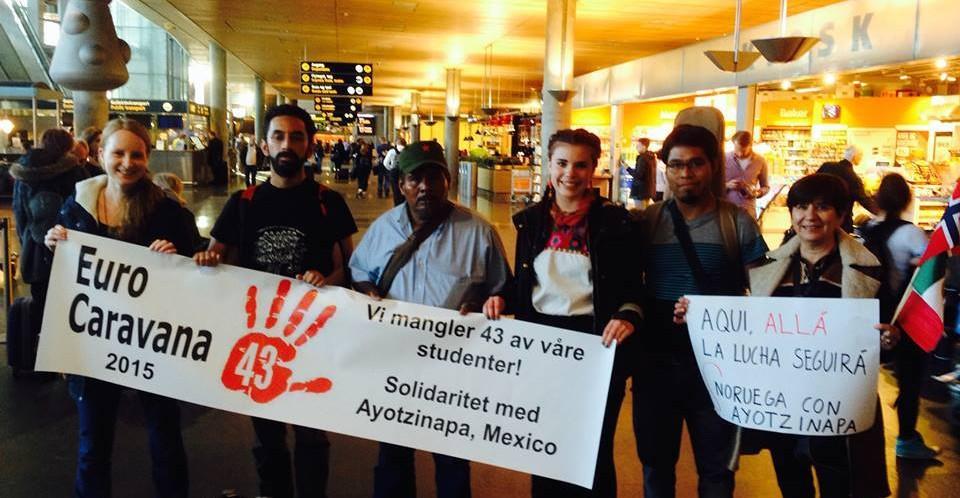 Recorre Europa brigada de Ayotzinapa (México) por la presentación con vida de los 43 estudiantes desaparecidos