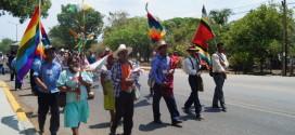 """""""Los gobiernos tenían la obligación de consultarnos antes de vender el territorio"""", Caminata por la paz y la unión de los pueblos."""