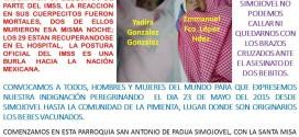 Anuncian peregrinación en Simojovel Chiapas, exigen justicia por muerte de dos bebés a causa de la vacuna del IMSS