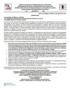 CNTE CHIAPAS 25 MAYO 2016 TUXTLA