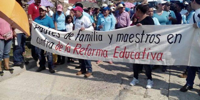 En San Fernando Chiapas también se solidarizan con el magisterio.