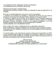 CNTE MEXICO AGO 2016