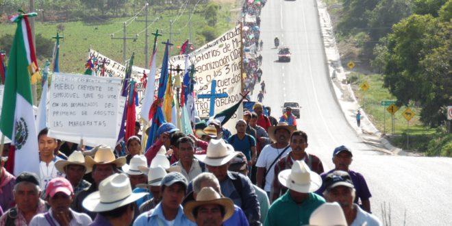Chiapas: indígenas peregrinarán en exigencia de paz, vida digna y respeto a la Madre Tierra.