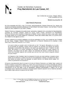 ROBERTO PACIENCIA LIBRE FRAYBA NOVIEMBRE 2016