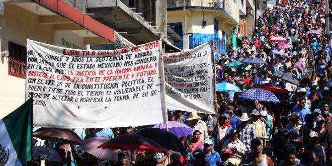 """Grupos de choque amenazan con crear """"Fuerzas Especiales de Tila"""", denuncian ejidatarios del CNI."""