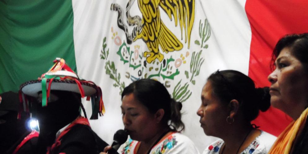 """""""Ningún partido político nos representa"""", Congreso Nacional Indígena México."""