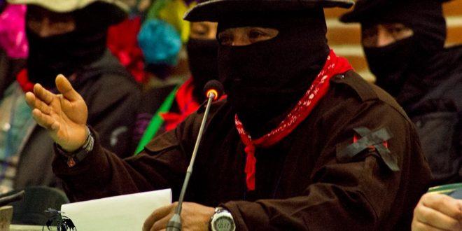 """""""El enemigo capitalista no va dejar que el pueblo mande"""", EZLN; seminario Los muros del capital"""