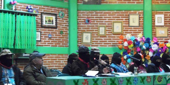 """""""Peña, un caporal al servicio del capitalismo"""", EZLN seminario """"Los muros del capital, las grietas de la izquierda"""""""