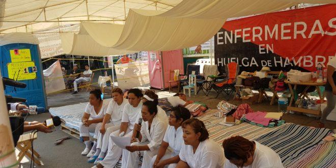 """Chiapas: """"Llegó el tiempo de cumplir y sólo dieron mentiras"""", Trabajadoras de la salud exigen cumplimiento al gobierno"""