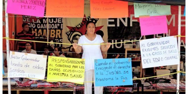 """Velasco: """"Ligereza en sus compromisos sabedor que no cumplirá"""", enfermeras chiapanecas en huelga de hambre"""