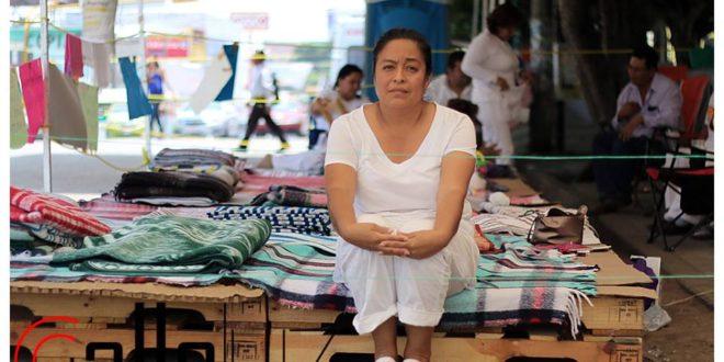 Emma; una madre en huelga de hambre en Chiapas
