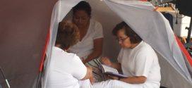 """Chiapas: """"Su cuerpo ya no da más, pero su espíritu las levanta"""", enfermeras en huelga de hambre"""