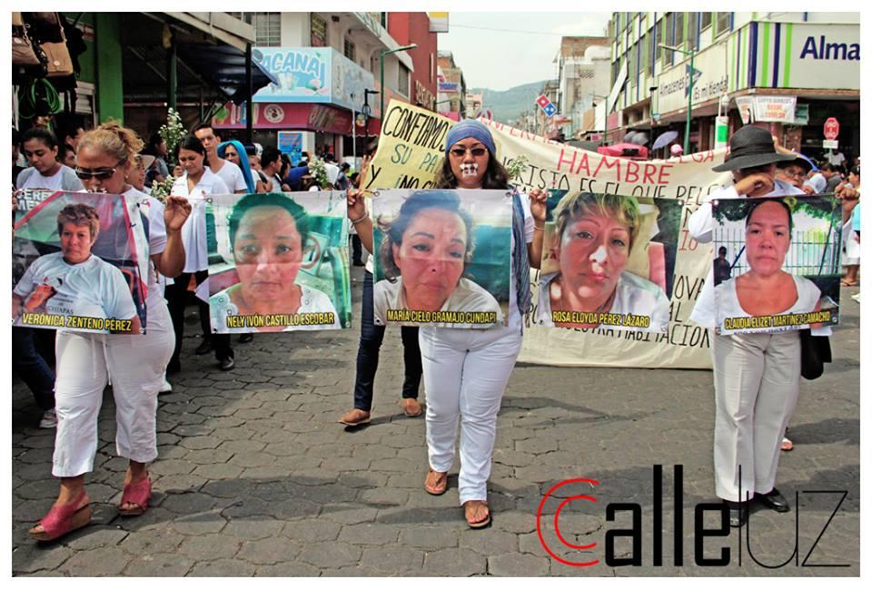 Chiapas: ¿Qué más puertas tocar para que el gob se responsabilice?, enfermeras en huelga de hambre