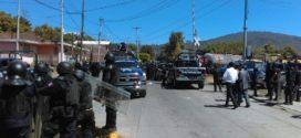 Caltzontzin Michoacán, el recuento de los daños, tras la represión policiaca. Libertad a los detenidos, la exigencia