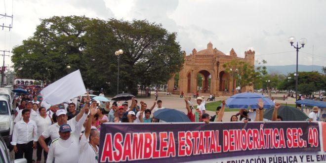 Maestros de la AED Chiapas, piden derecho de réplica en la siguiente Asamblea Nacional Representativa de la CNTE