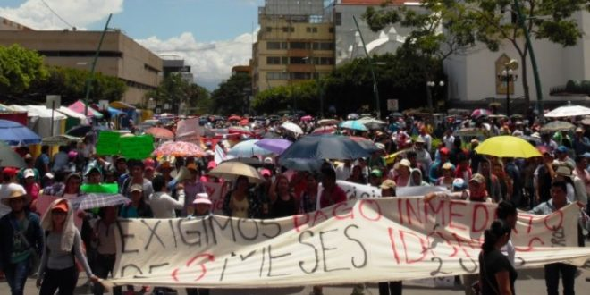 """AED-CNTE Chiapas, exige el pago a maestr@s de nuevo ingreso, de no cumplirse anuncian """"jornada de lucha de manera indefinida"""""""
