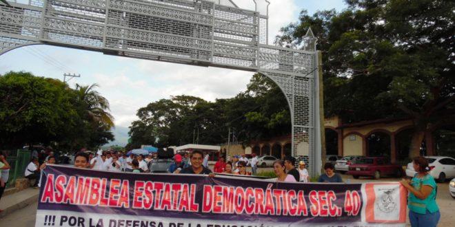 AED-CNTE Chiapas, anuncia movilizaciones para los días 9 y 10 de noviembre en Tuxtla Gutiérrez