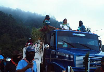 """Podemos demostrar al poder, al capitalismo, que sí podemos quitarlo"", Maria de Jesús candidata del CNI, en Chiapas"