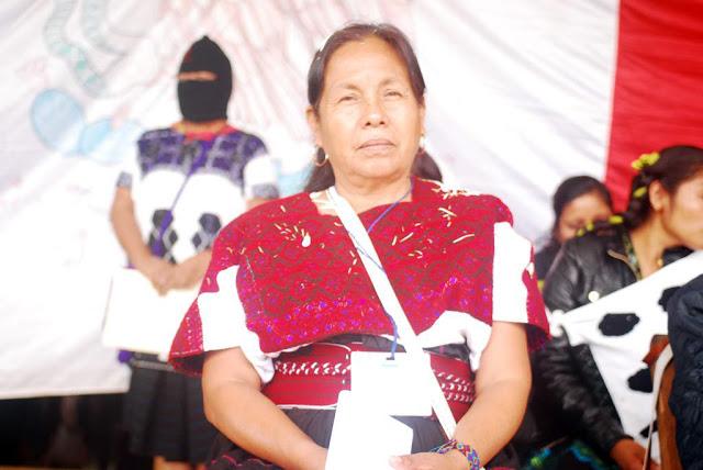 Palabras de María de Jesús Patricio Martínez en Oventic, Chiapas.