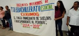 MAESTR@S INTERINOS DE TELEBACHILLERATO EN CHIAPAS, EXIGEN PAGOS ATRAZADOS DESDE 2014