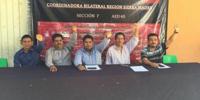"""AED Chiapas, llama a impulsar un proceso de """"unidad política e ideológica"""", sobre la base de los principios de la CNTE"""