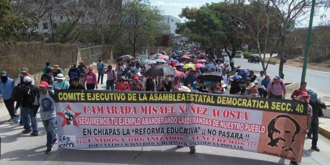 AED-CNTE Chiapas, recuerda al maestro Misael Núñez y continúa exigiendo solución a las demandas del magisterio estatal