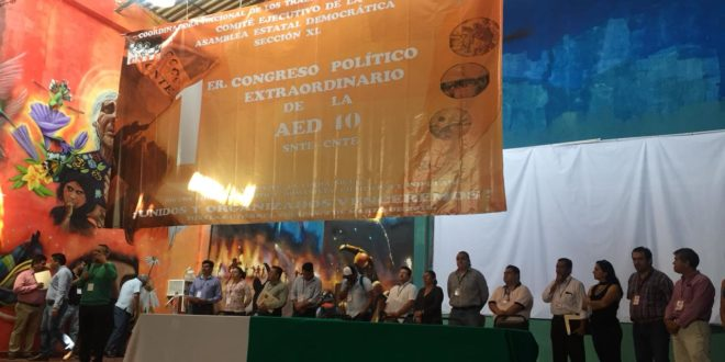 Maestr@s de la AED-CNTE Chiapas, realizan su 1er Congreso Político Extraordinario