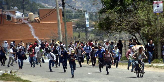 AED CNTE Chiapas, repudia represión de Velasco, a maestros de Educación Indígena