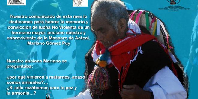 """""""NADIE ES ILEGAL EN EL MUNDO"""", Abejas de Acteal"""