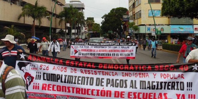 AED_CNTE Chiapas, anuncia movilizaciones para el 24, 29 y 30 de noviembre