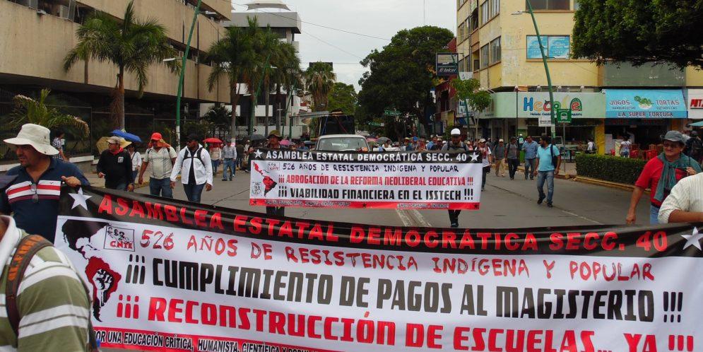 """AED-CNTE: """"Saqueo y desvíos millonarios"""", herencia de Velasco Coello a los chiapanecos"""