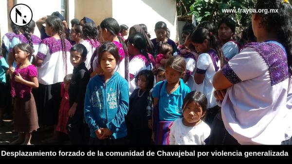 Acteal Chiapas, denuncia desplazamiento forzado de casi dos mil personas de Chavajebal.