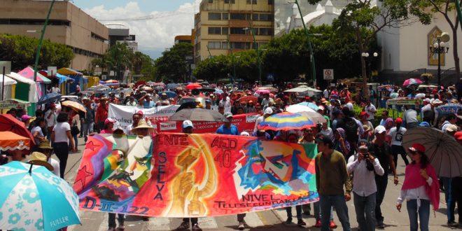 """""""Nefasta Reforma Educativa, maquillada"""", denuncia AED-CNTE Chiapas, tras repentina legislación"""