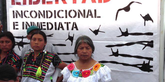 La Solidaridad de Los de Abajo, indígenas injustamente presos exigen la libertad de Fidencio Aldama y Cristóbal Santos