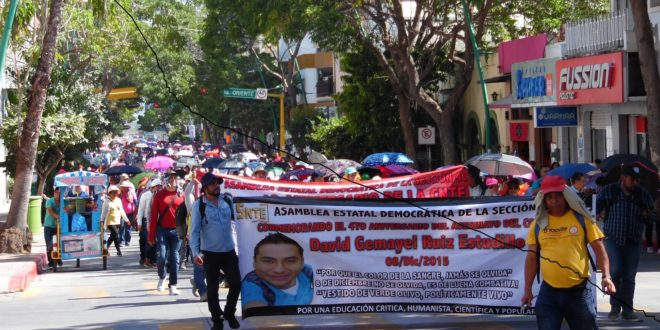 """""""Mientras quieran imponer la reforma neoliberal, nuestra lucha tiene razón de ser"""", AED-CNTE Chiapas"""