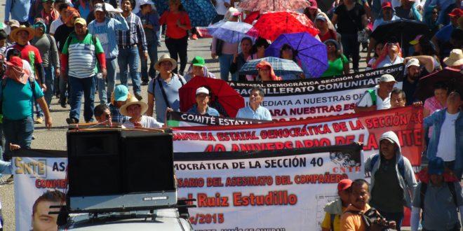 «El motivo de la represión está sustentado en el régimen capitalista», AED_CNTE Chiapas, denuncia hostigamiento a sus bases