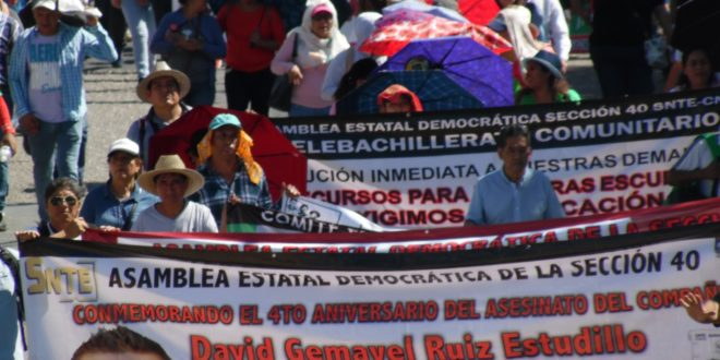 AED_CNTE Chiapas: Ley Isstech, «sólo sirve a intereses capitalistas, sin importarles la condición humana del trabajador»