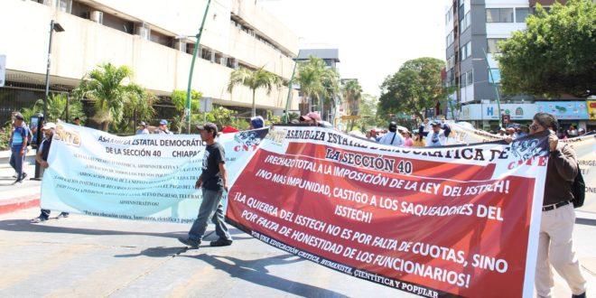 """Chiapas: Maestros inician paro de 48 horas, debido a """"la misma política de gobiernos anteriores"""", que afectan sus derechos laborales, denuncian"""