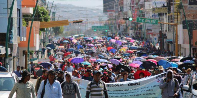 Anuncia AED_CNTE Chiapas, mitin político en el Congreso del Estado, tras aprobación de ley Isstech