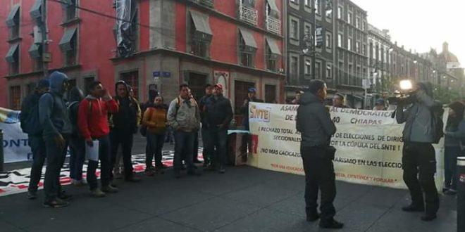 «En Chiapas, no se materializa ese cambio», AED_CNTE a Amlo